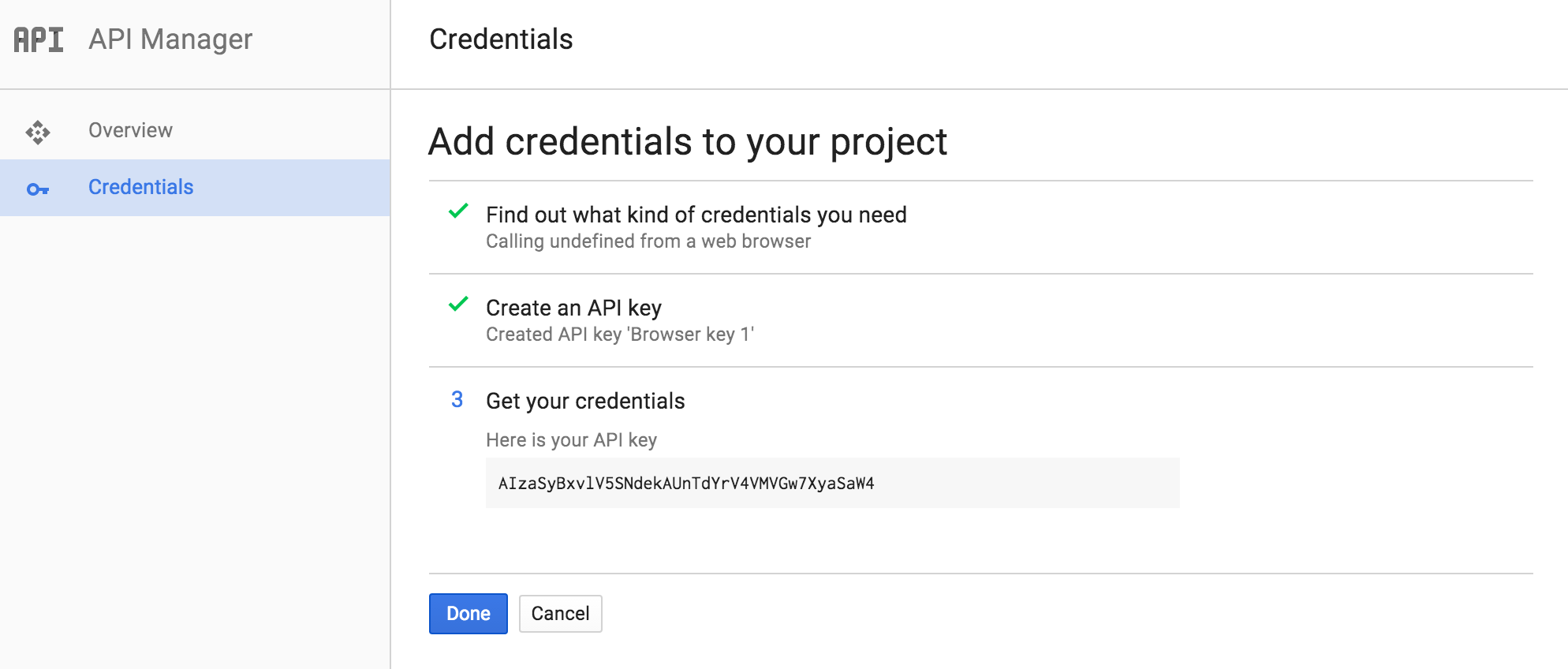 Now you will get your API key, copy it