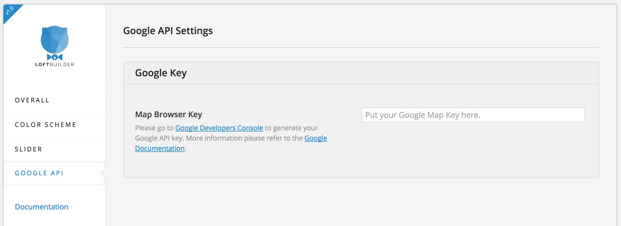 google-api-settings